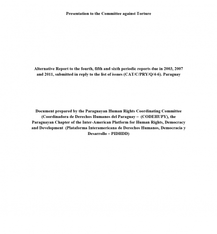 CAT Informe Sombra Paraguay-English