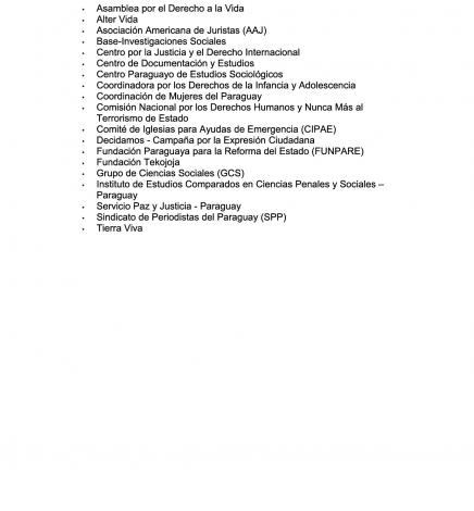 Informe Derechos Humanos en Paraguay 1997