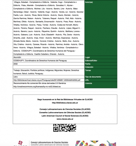 Informe sobre Derechos Humanos del Paraguay 2002