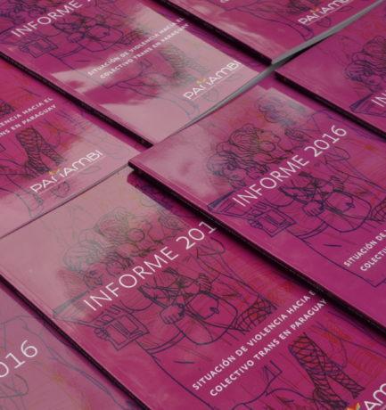 Panambí presenta el Informe 2016 sobre la situación de violencia hacia el colectivo trans en Paraguay