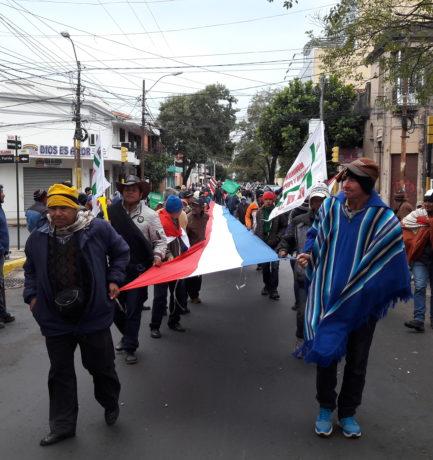 Continúa la protesta de campesinos y campesinas en Asunción