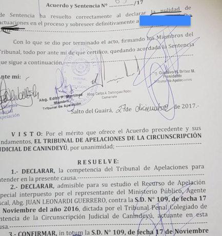 La cámara de Apelaciones confirmó  la nulidad del juicio de Raquel