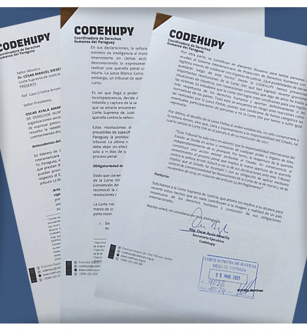Codehupy insta a Corte Suprema de Justicia a revertir actuación de jueza, que compromete al Estado a nivel internacional