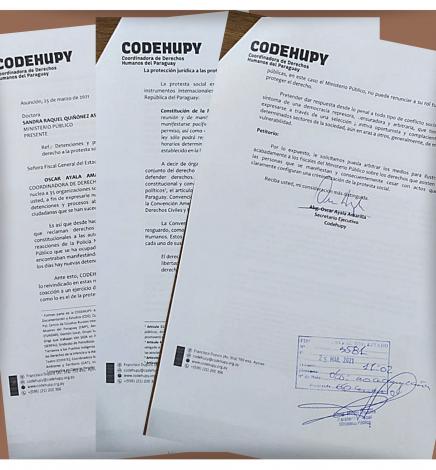 Codehupy pide que fiscales sean capacitados sobre derecho a la protesta social