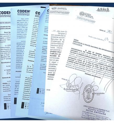 Juzgado recibe Hábeas Corpus a favor de adolescente desaparecida presentado por Codehupy y ordena trámites