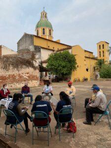 reunión con Adultos mayores de la Asociación Oñondivepa de Concepción